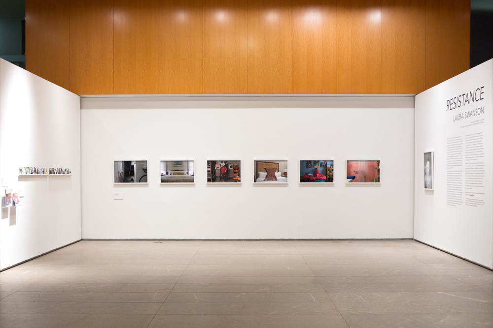 "Installation view of ""Anti-Self-Portraits"" and ""Hope, NY"""