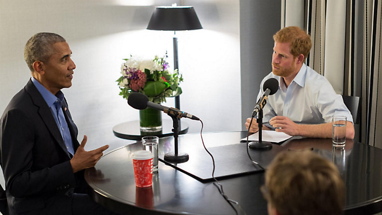 Obama and Prince Harry