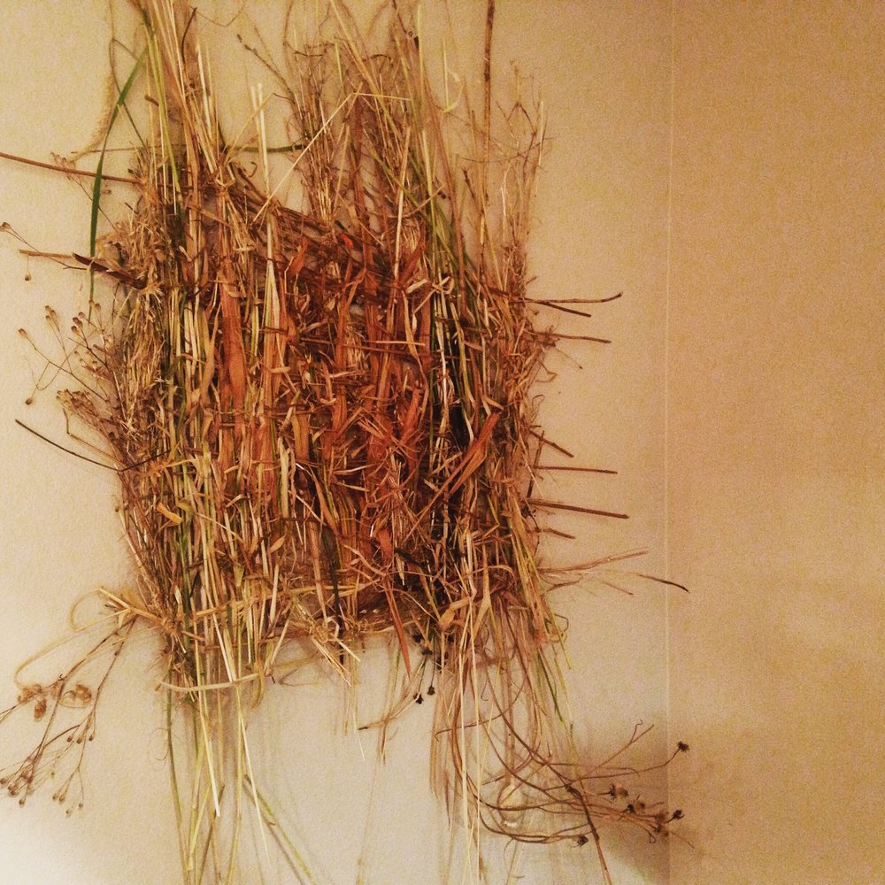 Natural Wall Hanging Made of Dried Grass