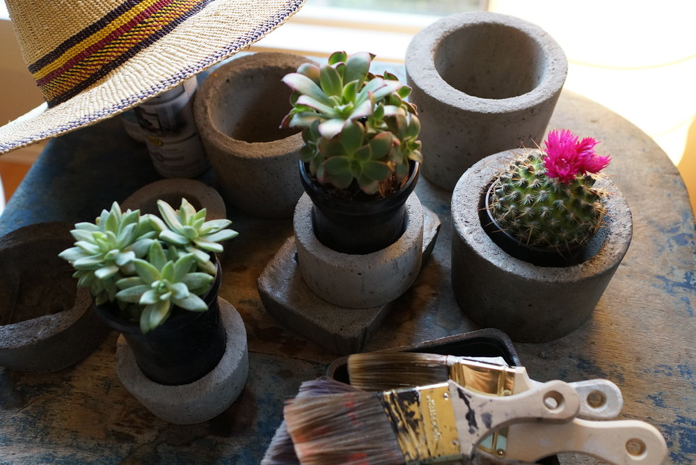 Handmade Concrete Pots for Succulents
