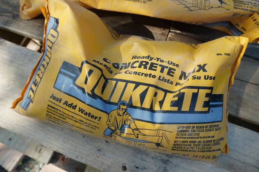 10lb bags of concrete