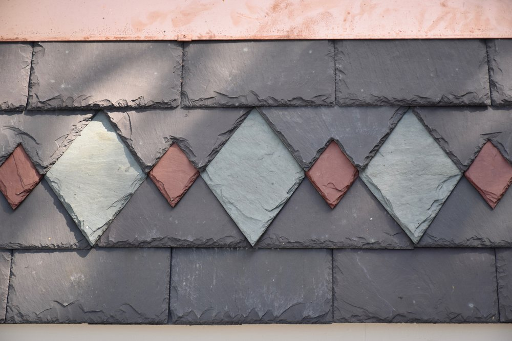 Slate Design - Diamonds interwoven into Welsh purple.