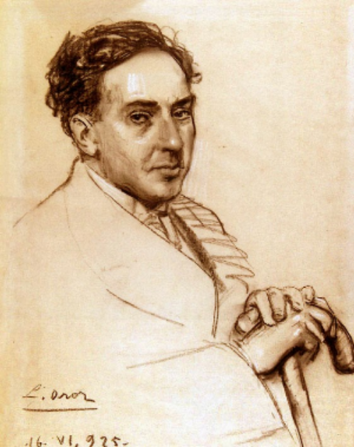 Antonio Machado by Leandro Oroz (1925)