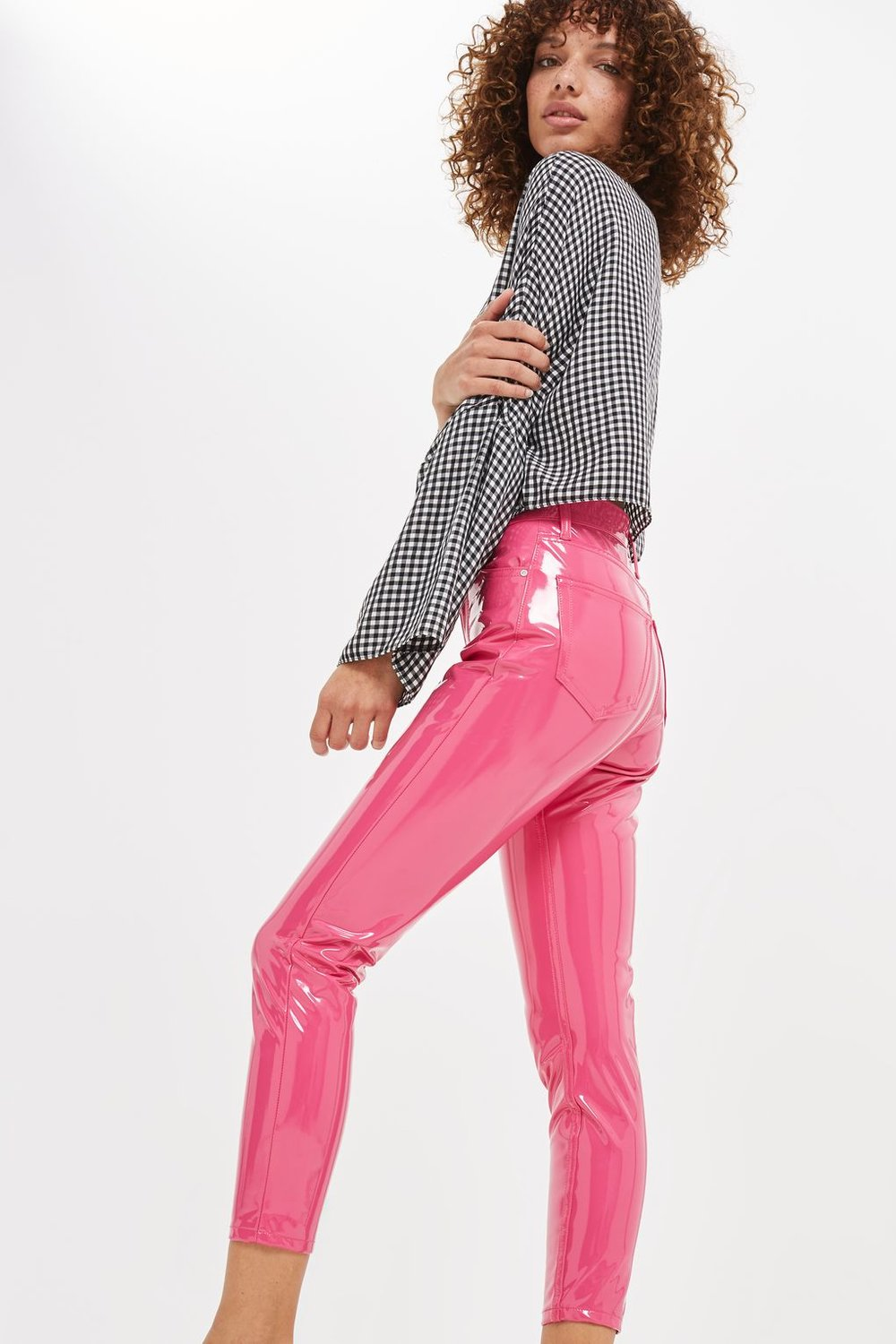 4. Topshop Pink Vinyl Jamie Jeans - First, there was the baby pink vinyl pencil skirt, now there are the bubblegum pink vinyl 'jeans'. Just imagine the noise you'll make when you're walking...