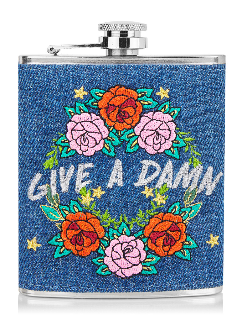 6. Give a Damn Hip Flask - You know those people who take a hip flask to weddings...