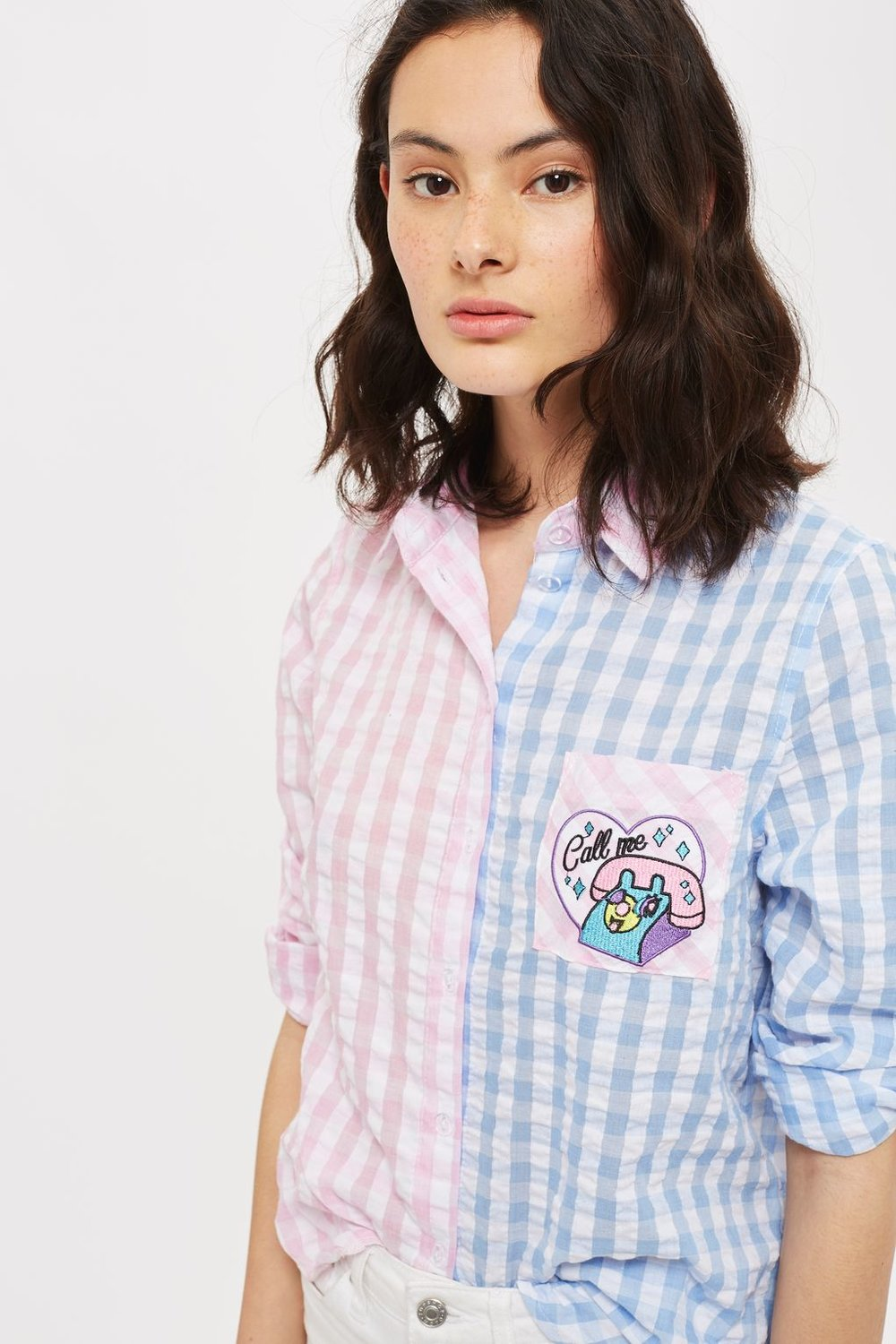 8. Kuccia Call Me gingham shirt - Gingham reminds me of school summer dresses, and the telephone patch reminds me of the Dream Phone game. Perfect 90s vibes.