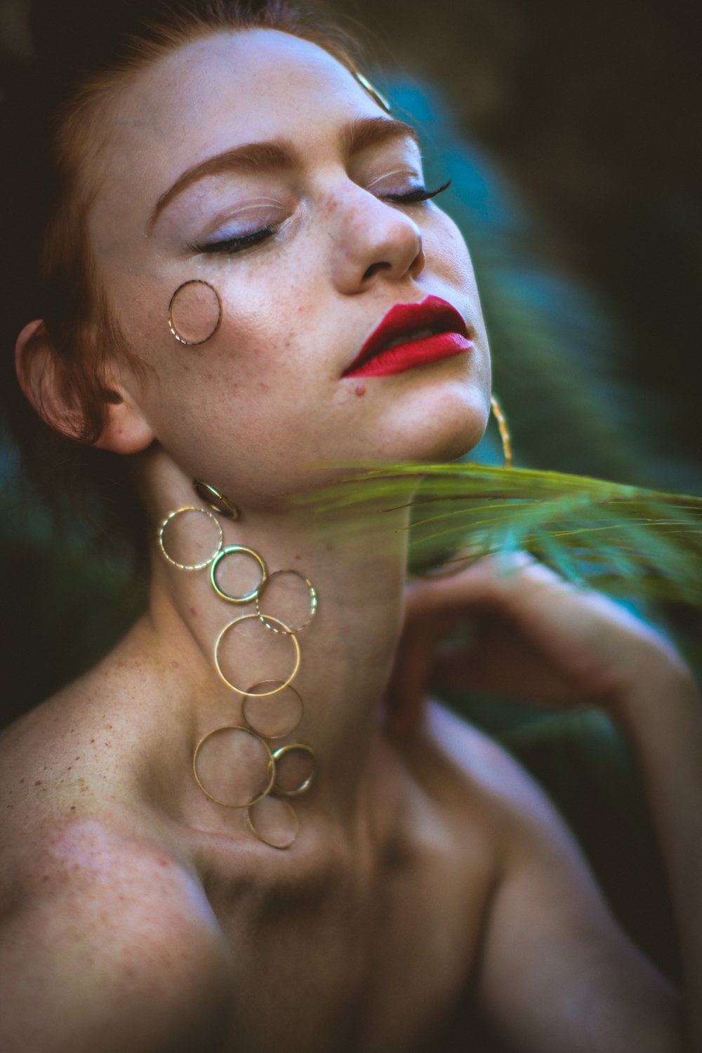 """Circle, Circle.  Dot, Dot."" featuring Melissa Monet and makeup by Erin Celine"