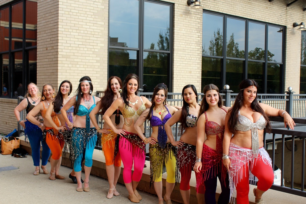Mariah's Bellydance performers at the Rubber Ducks game!