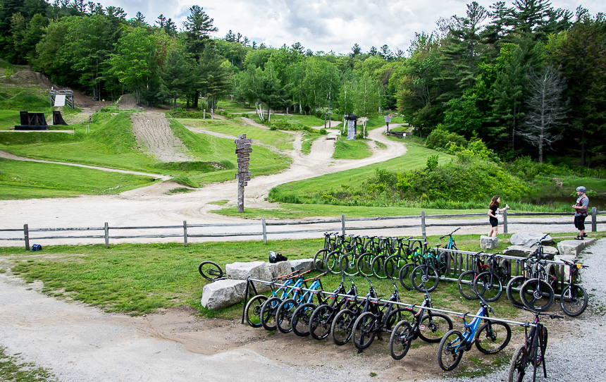 There's a great selection of bikes for all sizes at Highland Mountain Bike Park