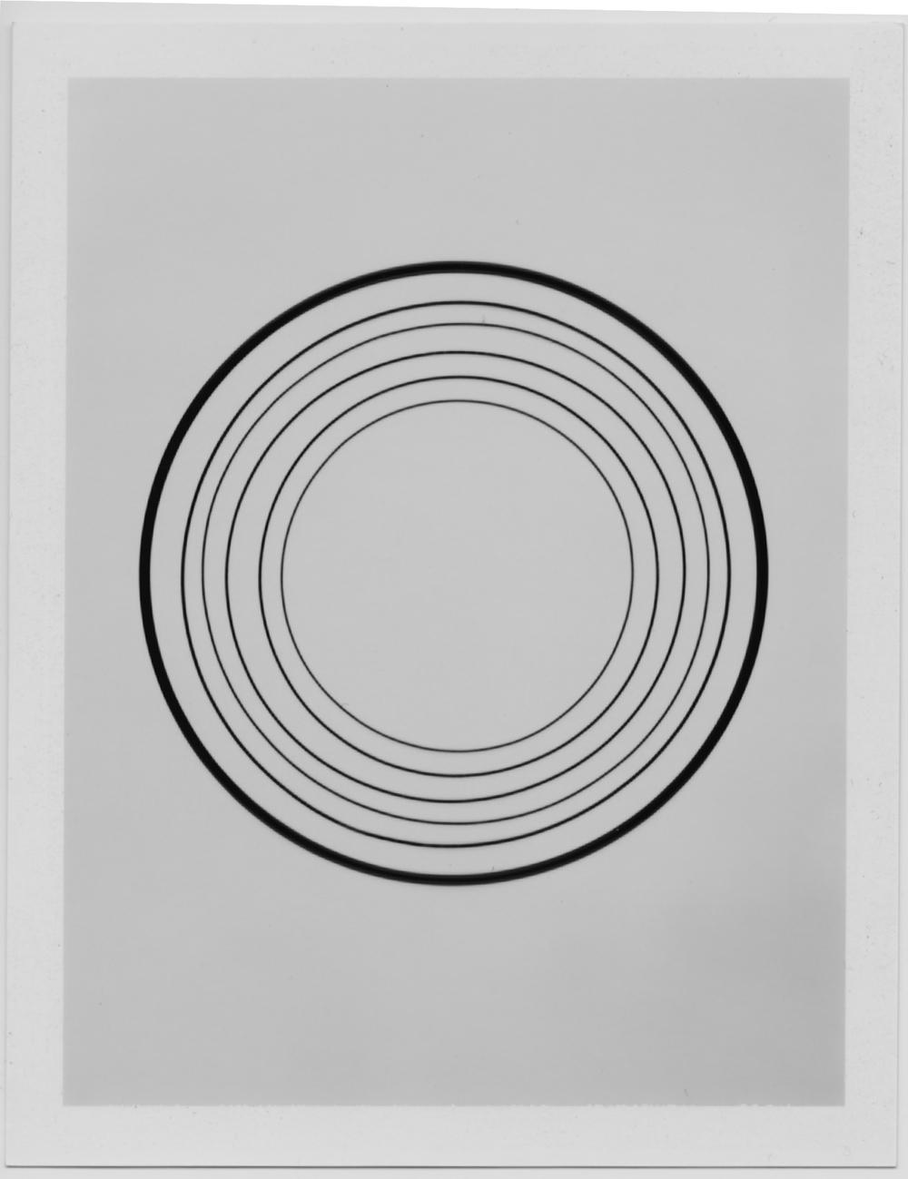 Nebraska (Silent), 2009  Lazer-cut Vinyl Record, Polaroid