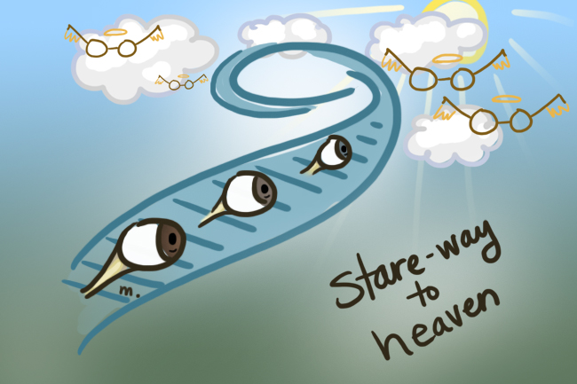 stairway to heaven, or stare-way to heaven