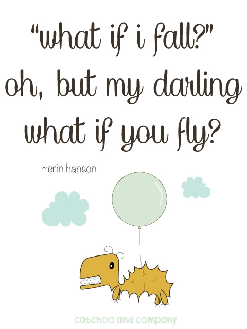 what if you fly? a warm fuzzy by catchoo & company