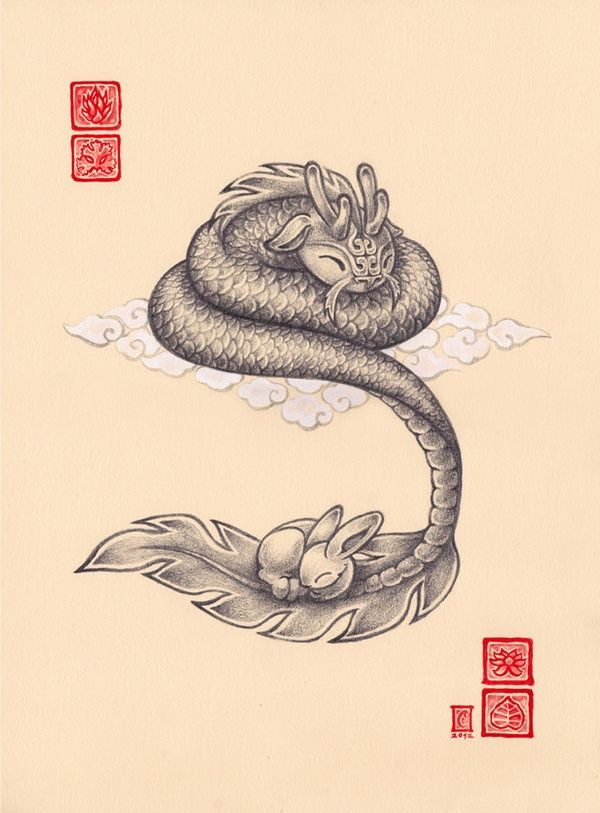 dragon and bunny illustration found on https://catchoocutiepie.wordpress.com