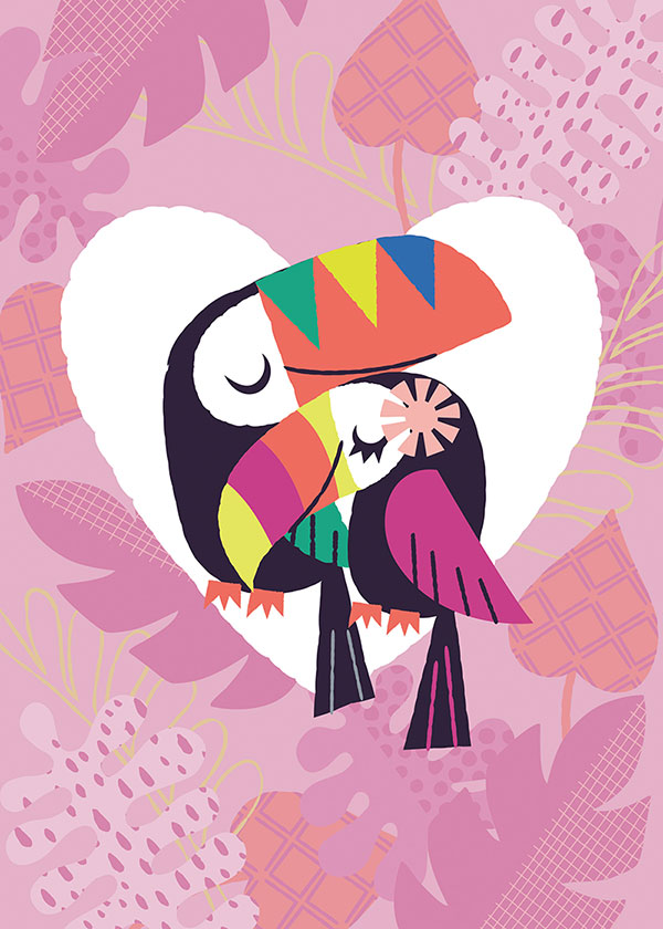 toucans illustrated by kat uno. blog post found on catchoo and company