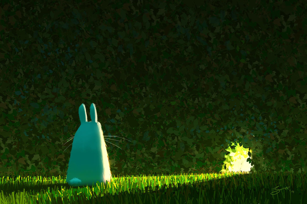 i admire this composition and sometimes feel like a bunny contemplating whether or not to jump through the hole in the hedge.