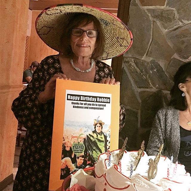 #RobertaSchiff enters official crone-hood and celebrates another #vegan birthday dinner!