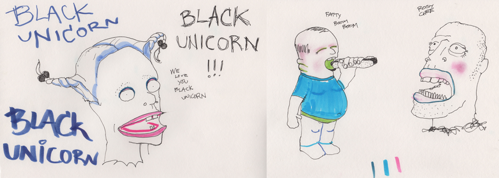 Black Unicorn Drawings