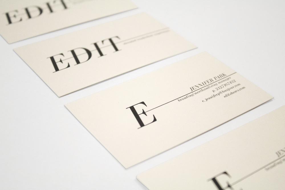 EDIT business cards - logo design