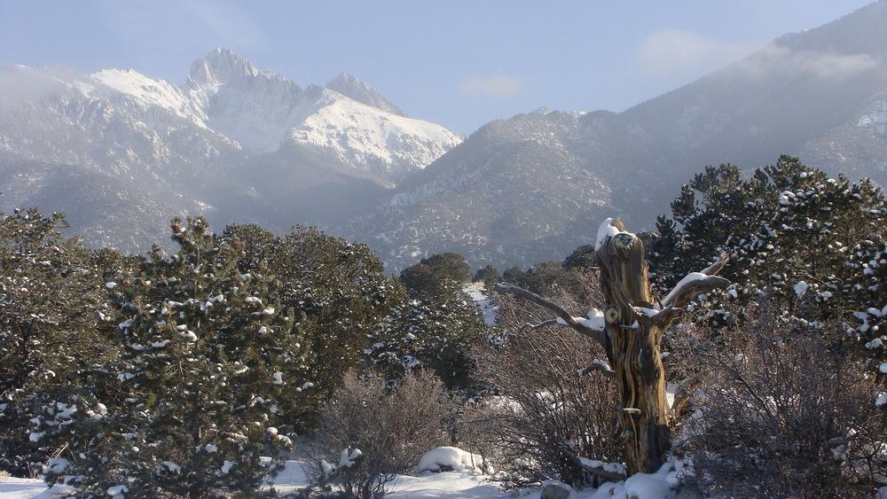 crestone winter landscape