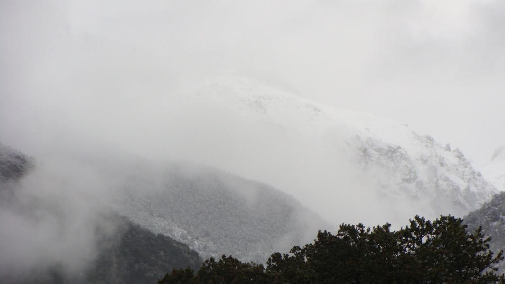 snowy crestone landscape