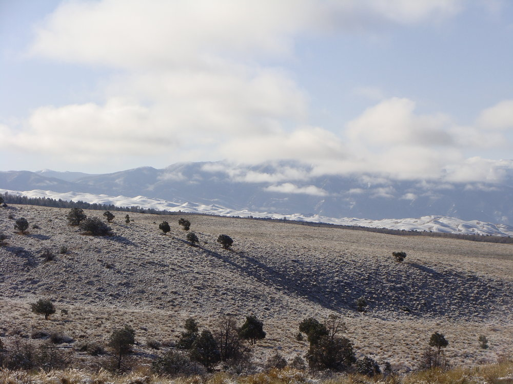The Great Sand Dunes and the vast San Luis Valley