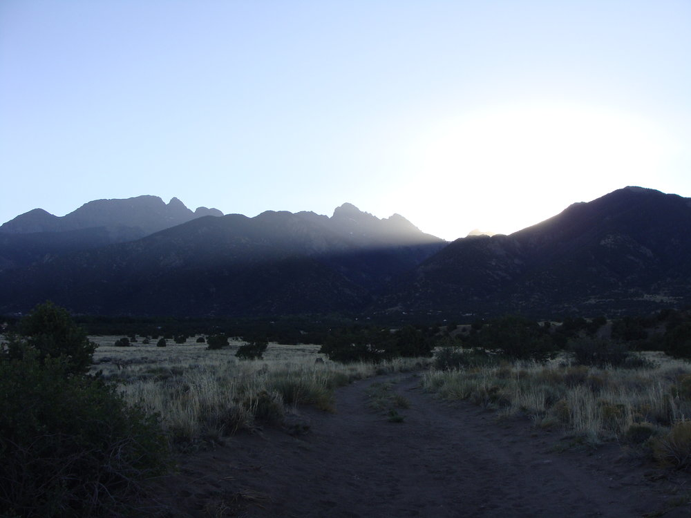 Sunrises on Another Beautiful Day in the Sangre de Cristo Mountains