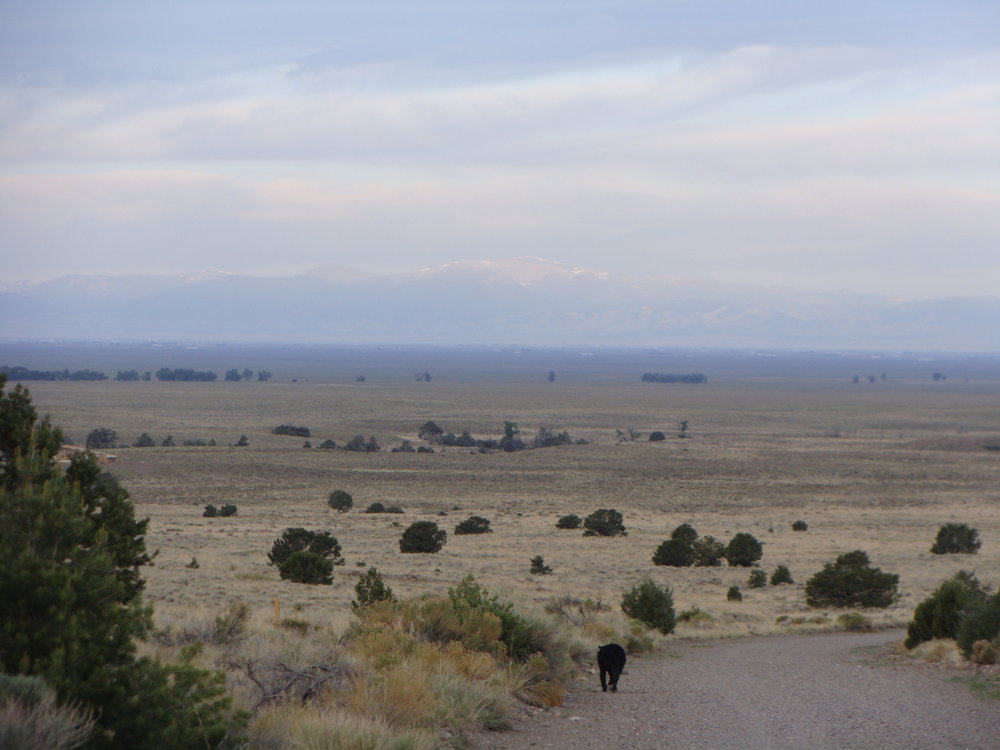 The vast San Luis Valley and San Juan Mountains Greet Us in Early Morning.