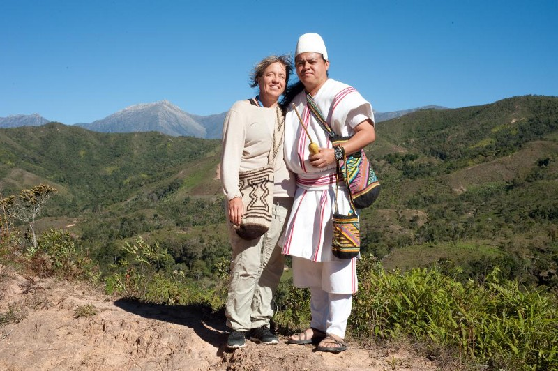 A Teyuna Mamo with    Mary Gaetjens of Harmony with Earth Mother Initiative in Columbia