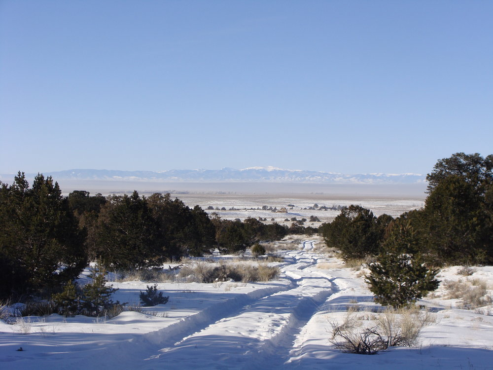 A Cold, Clear Morning Looking Across the San Luis Valley
