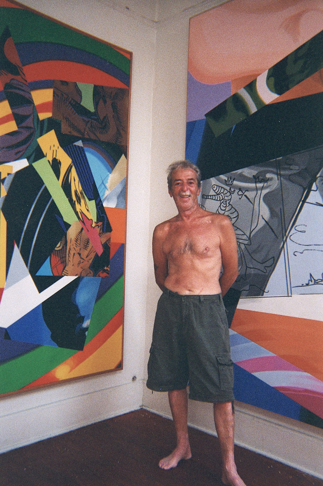 Theo in his Ybor studio-home in the late '90s