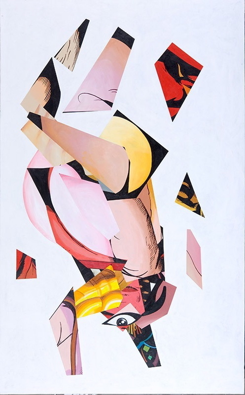 "Victory Flip, 2009, acrylic on canvas, 90"" x 55"""