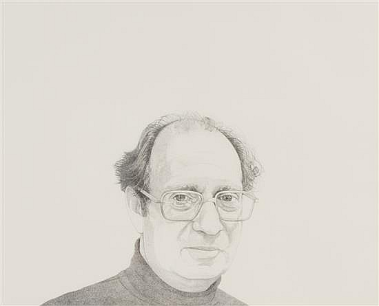 "Mentors/Philip Pearlstein, 1976, 18"" x 24"""