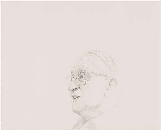 "Mentors/Joseph Albers, 1976, stipple etching, 18"" x 24"""