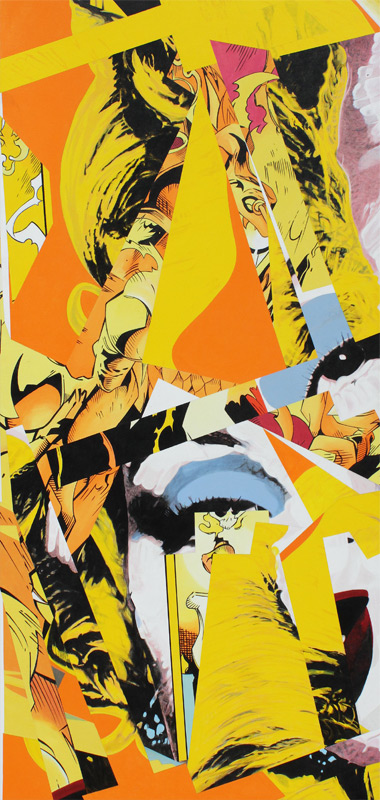 "Old Yellar, 1998, acrylic on canvas, 90"" x 42 1/2"""