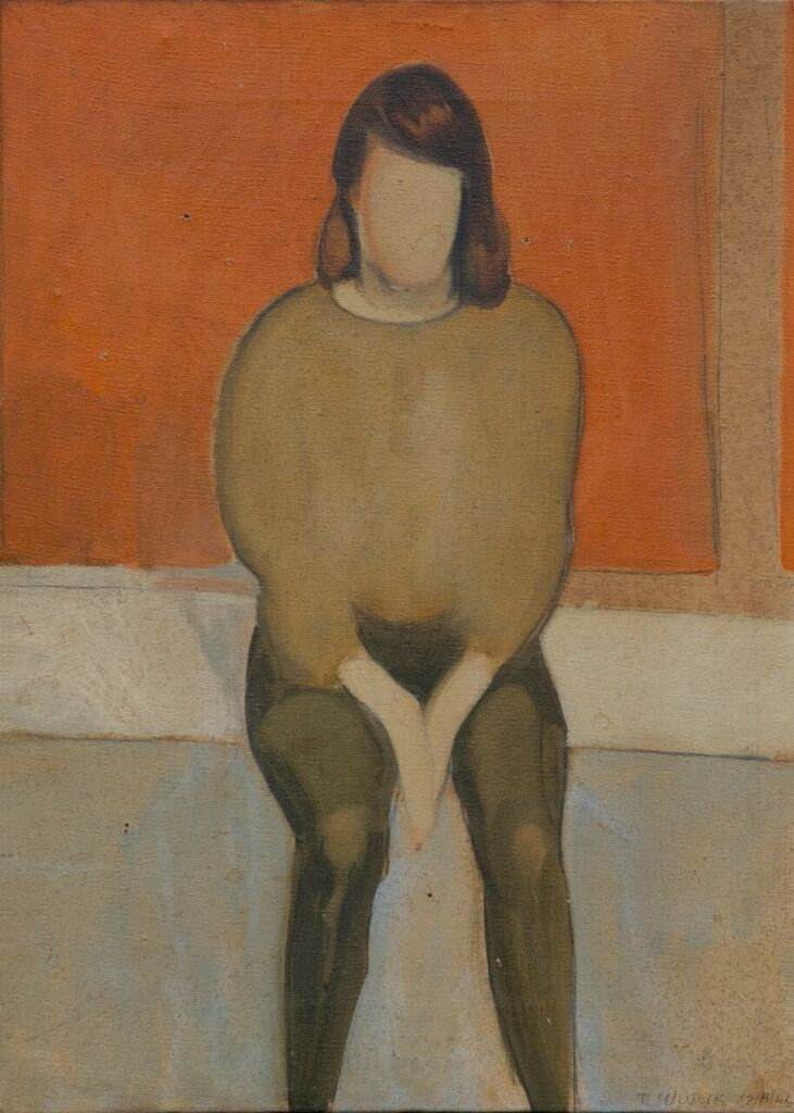 "Julie, 1962, oil on canvas, 13"" x 19"""