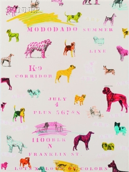"ModoDado Poster, Dogs Of Summerlin/Canine Corridor, 1981, lithograph, 30"" x 22"""