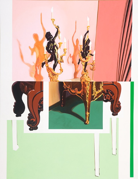 "A Cut Below, 2002, acrylic on canvas, 96"" x 72"""