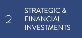 Strategic and financial investments