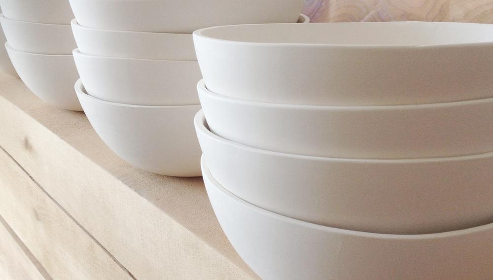 White Earthenware w/ Clear Inner Glaze