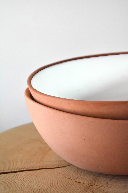 Terracotta w/ White Inner Glaze