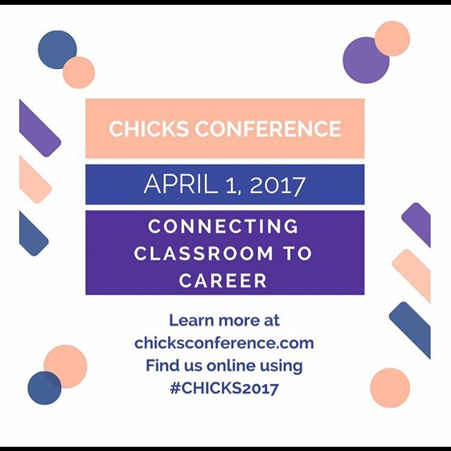 The conference is less than 2 weeks away, make sure you've registered! We have awesome guest speakers lined up ready to give you advice on channeling your inner #GIRLBOSS . You do not want to miss this 🐣 #CHICKS2017 #BeThatCHICK