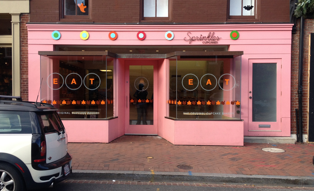 Seasonal vinyl application for Sprinkles