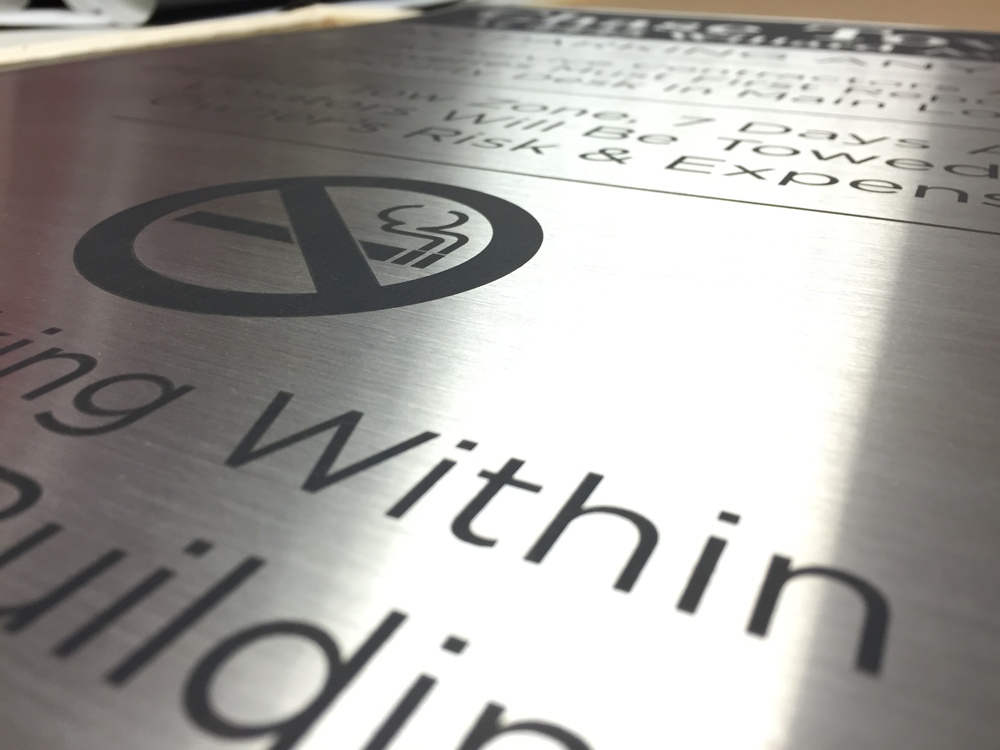 Laser-Etched Aluminum Plaque