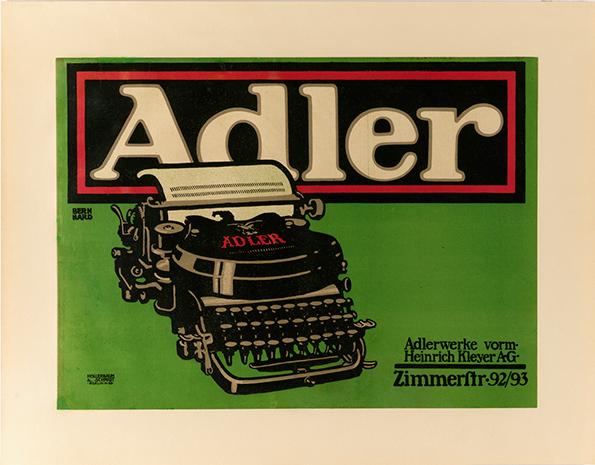 Lucian Bernhard: Adler (Photo by Matt Flynn, copyright Cooper Hewitt, Smithsonian Design Museum)