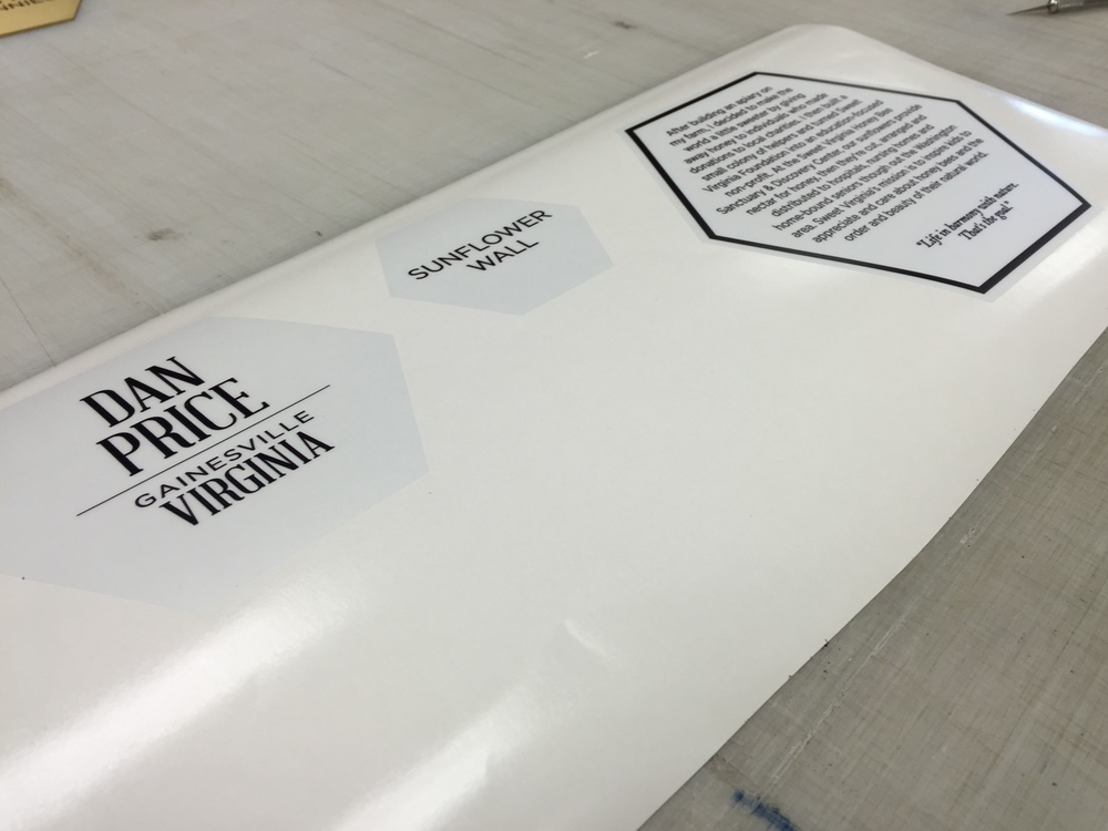 Clear adhesive vinyl prints