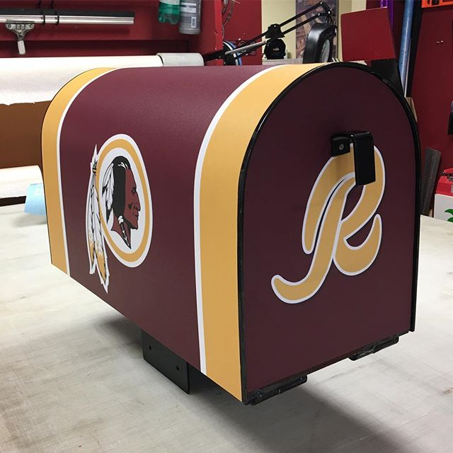 The season starts again super fan mail box #redskins