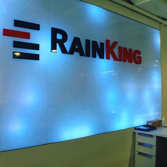 Let it rain 3D letters with led scrolling lights #LED #rainking