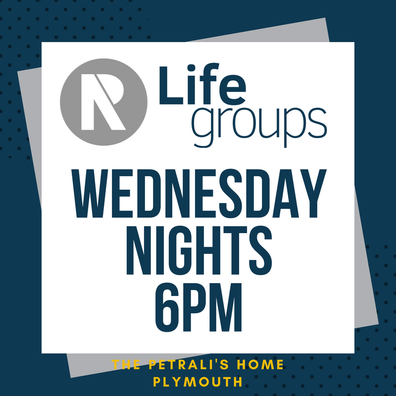Join us as we gather weekly to do life together. To help us get a rough head count, please sign up below if you plan on attending the Wednesday evening Life Group.