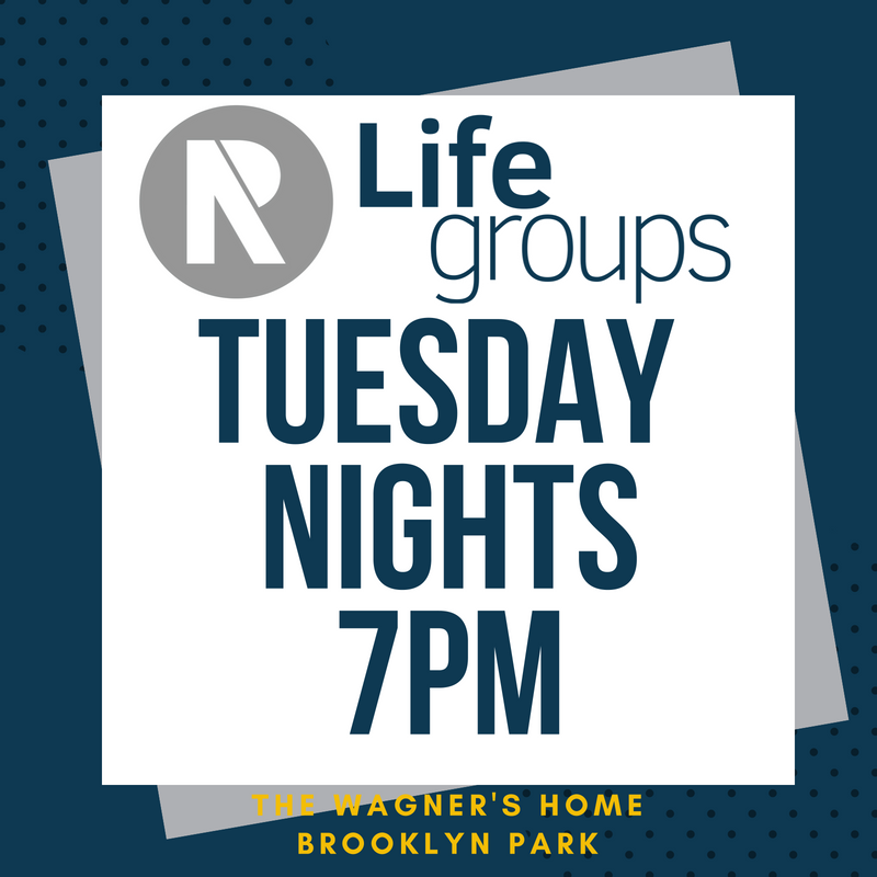Join us as we gather together do life together. To help us get a rough head count, please sign up below if you plan on attending the Tuesday evening Life Group.