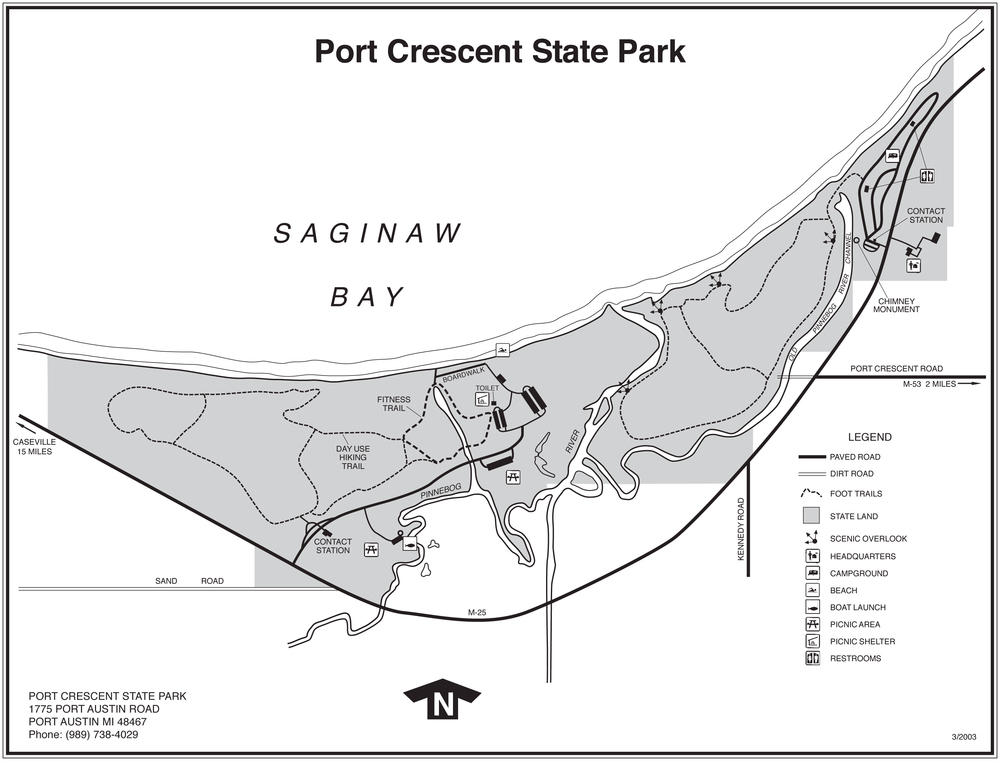 Port Crescent State Park Trail Mail